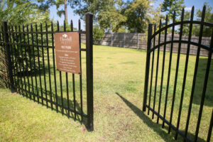 Gate leading into the Pet Park.