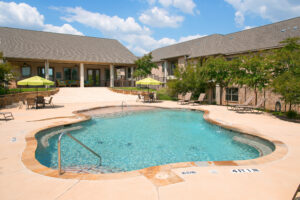 Pool area at Haverhill Place.